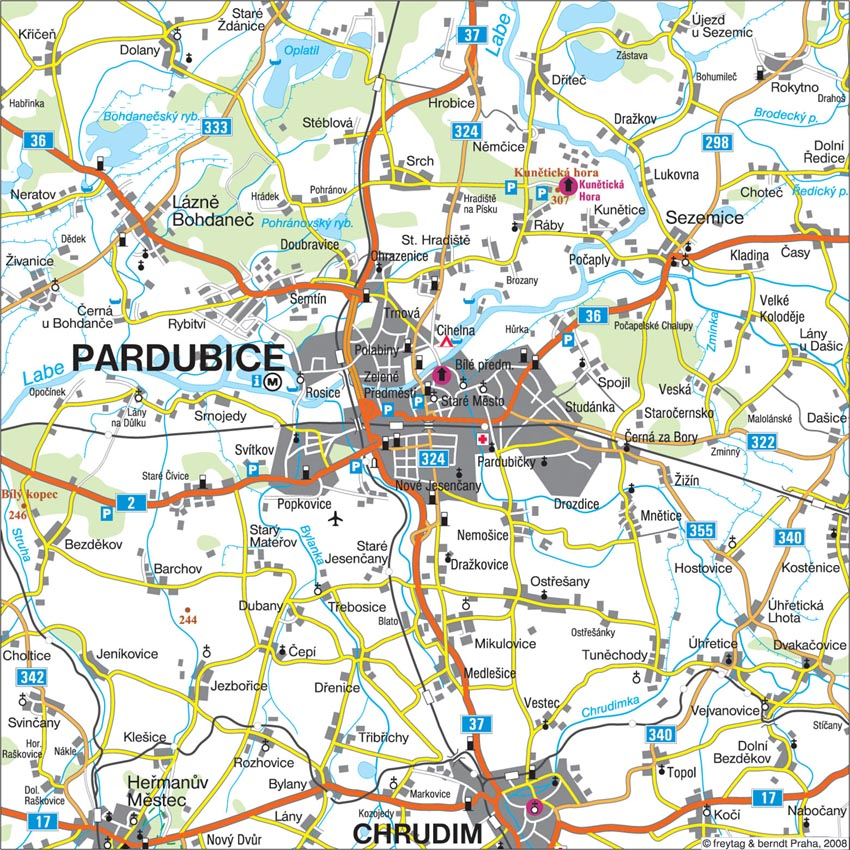 Taxi Pardubice Mapa